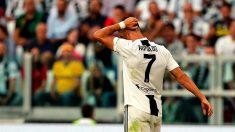 Cristiano Ronaldo, durante un partido con la Juventus. (Getty)