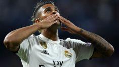 Mariano celebra su gol ante la Roma. (AFP)
