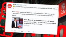 Tuit del PSOE jactándose de su limpieza en el caso de las tarjetas black