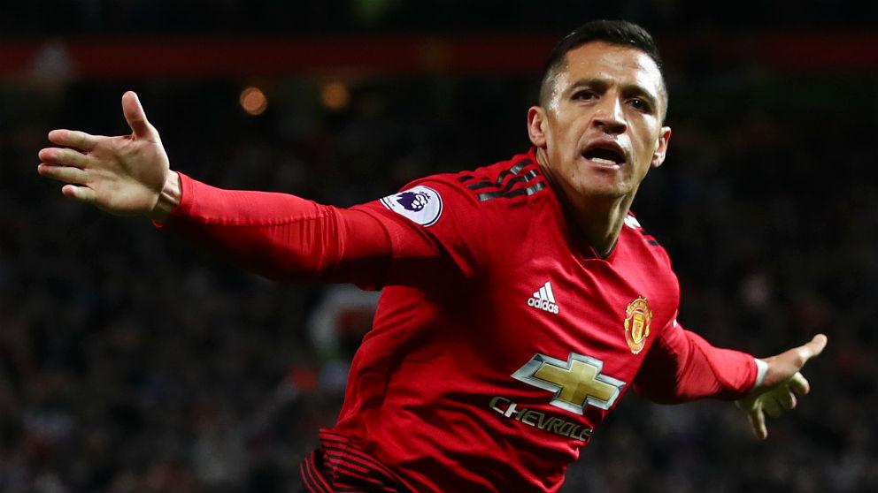 Alexis celebra su gol ante el Newcastle, que salva a Mourinho. (Getty)