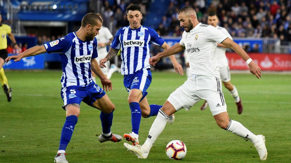 Benzema, en el Alavés – Real Madrid (EFE)