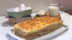 Receta de Croque cake de jamón y queso fácil de preparar