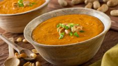Receta de Sopa de cacahuetes fácil de preparar
