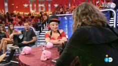 Aramís Fuster en directo en 'El Debate de GH VIP 2018'. (Foto: Telecinco)