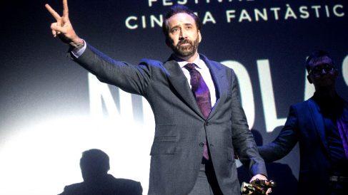 Nicolas Cage este sábado en Sitges (Foto: EFE).