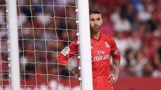 Sergio Ramos, durante un encuentro de la presente temporada. (Getty)