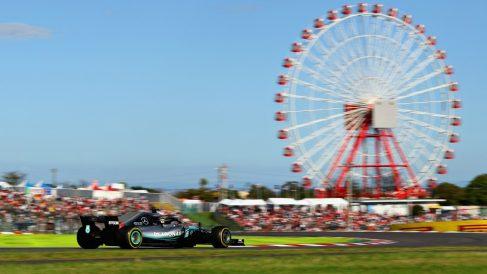 Hamilton, en el Gran Premio de Japón. (Getty)