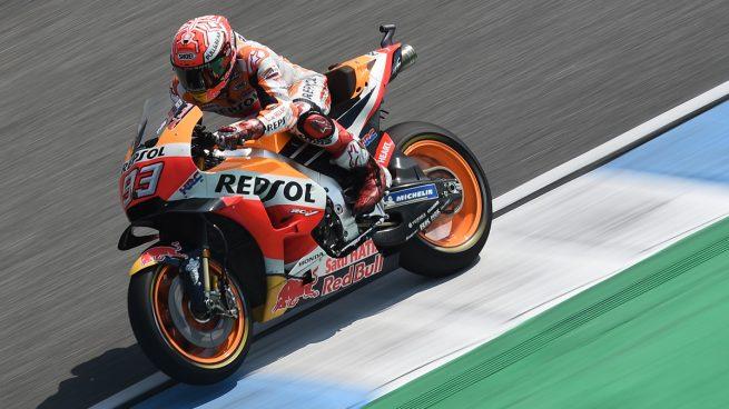 Márquez, en una curva del GP de Tailandia de Moto GP.