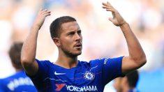 Hazard celebra un gol con el Chelsea. (Getty)