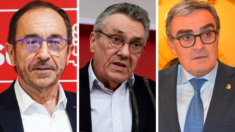Andrés Perelló (i), Manuel Escudero y Ángel Ros. (Foto: EFE/EP)