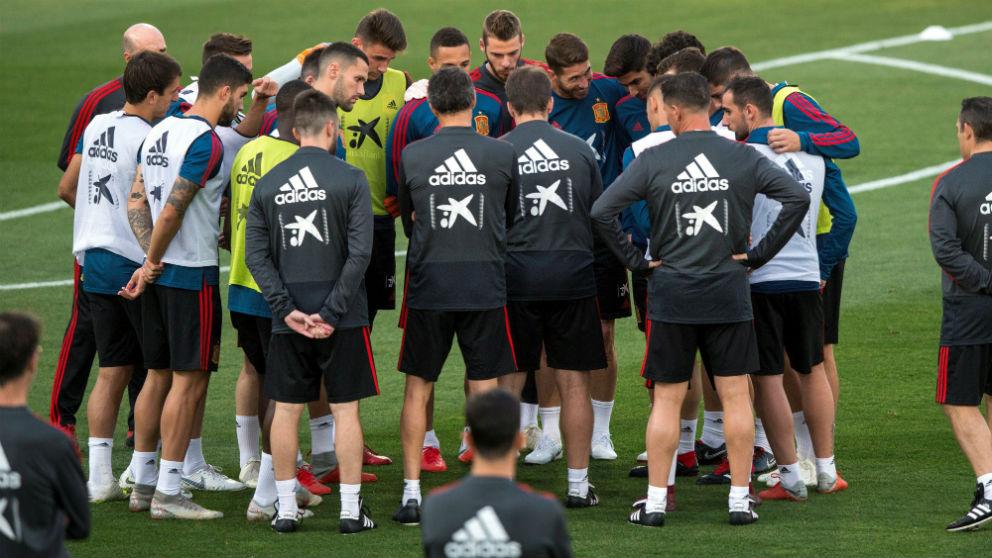 Entrenamiento de la selección española. (EFE)