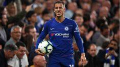 Hazard, durante un partido del Chelsea. (Getty)