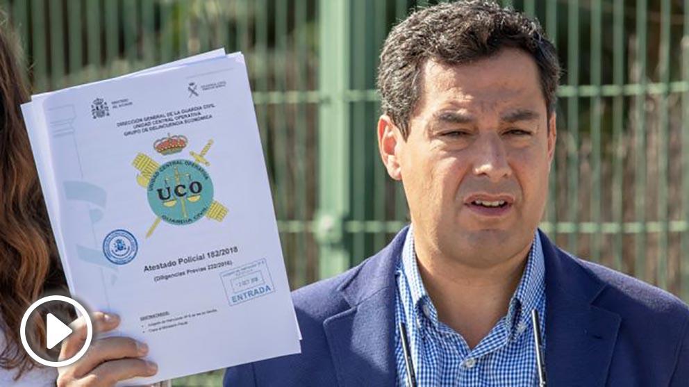 Juanma Moreno, líder del PP en Andalucía. (Foto: EFE)