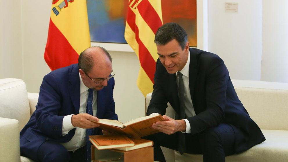 Javier Lambán y Pedro Sánchez (Foto: EP)