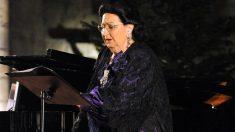 La soprano catalana Montserrat Caballé en una de sus últimas actuaciones antes de su muerte. Foto: Europa Press