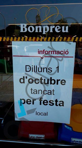 Los supermercados Bonpreu homenajean el 1-O mientras su dueño manda su Sicav a Madrid