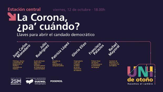 El ex Jemad agita la ofensiva de Podemos contra el Rey en la fiesta nacional del 12-O