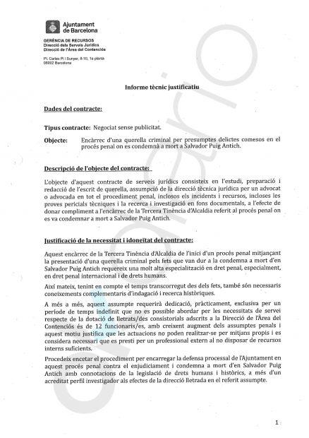 Colau dilapida 32.000 € en abogados para investigar la ejecución de Puig Antich en el franquismo