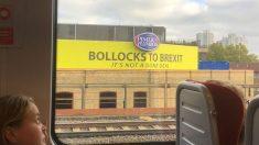 Uno de los carteles contrarios al Brexit pagados por Charlie Mullins y que son vistos diariamente por millones de londinenses que llegan a la estación de Waterloo. Foto: Twitter