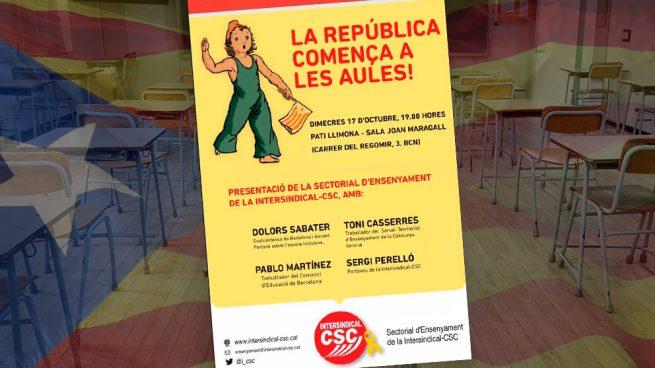 Funcionarios de Educación de la Generalitat: «La república comienza en las aulas»