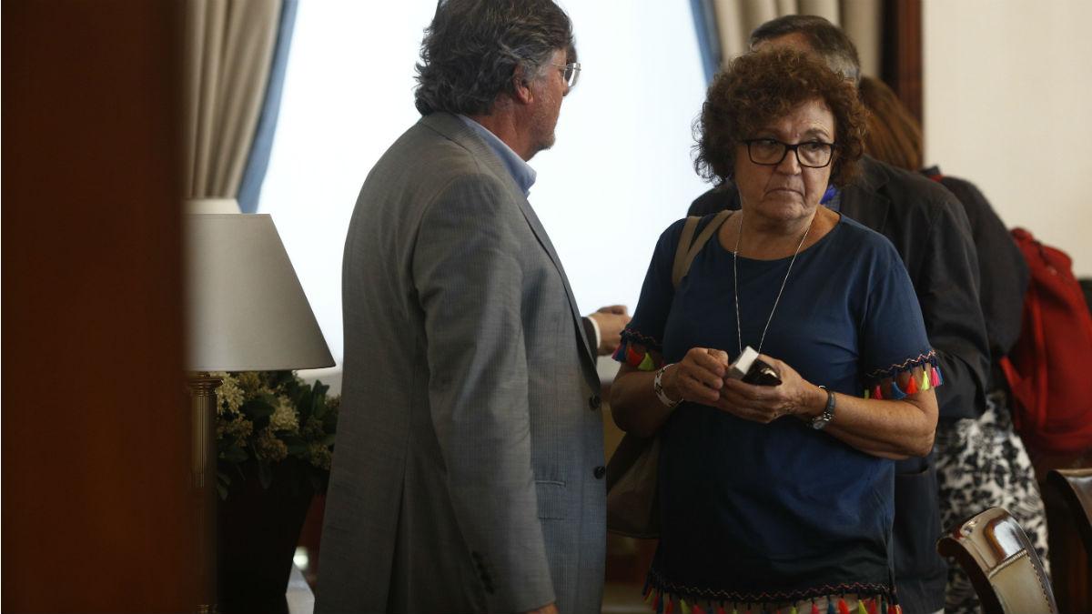 Carmen Caffarel en el Congreso hace escasos días (EP).