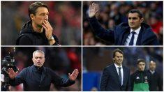 Los entrenadores de los grandes de Europa están en la picota.