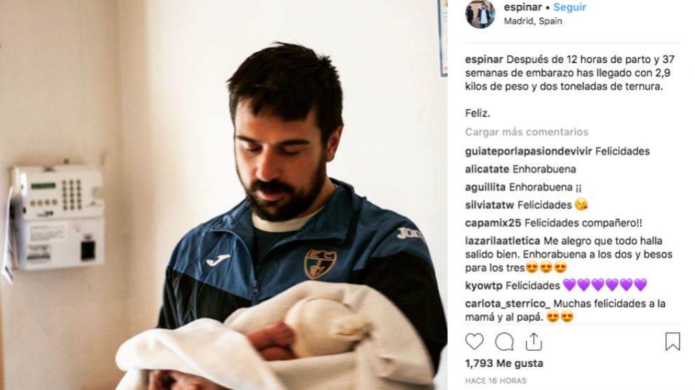 El mensaje de Ramón Espinar en su cuenta de Instagram con el que anuncia su paternidad
