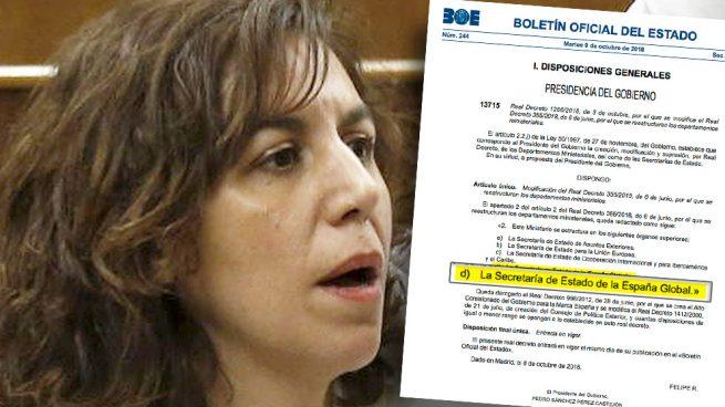 Irene Lozano cobrará más de 70.000€ por lo que Espinosa de los Monteros hacía gratis en Marca España