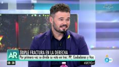 Gabriel Rufián en 'El programa de Ana Rosa'.