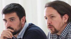 Ramón Espinar y Pablo Iglesias.