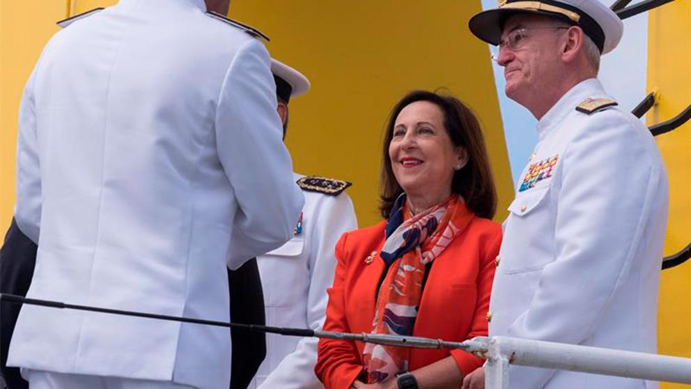 Robles apela a la Armada española para construir una «Europa de futuro» (EFE)