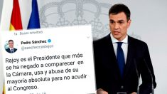 Pedro Sánchez acusó a Mariano Rajoy en Twitter por no comparecer en el Congreso