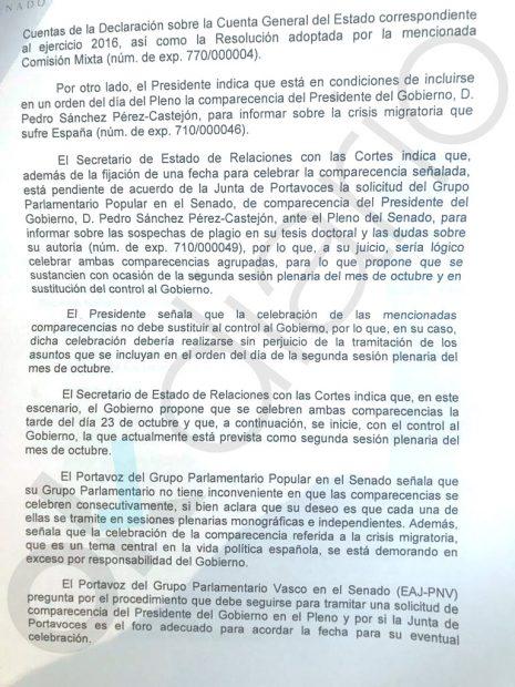 Las actas del Senado revelan otra mentira de Sánchez: se comprometió a explicar el 'Tesisgate'