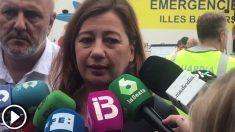 Francina Armengol valora los efectos de las inundaciones en Mallorca. (Vídeo: Joan Guirado)