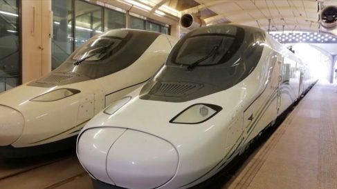 Uno de los trenes que recorrerán la línea saudí, fabricados por Talgo.