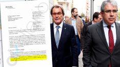Carta que envió la Generalitat para sancionar a los medios que no promocionasen el referéndum del 9-N
