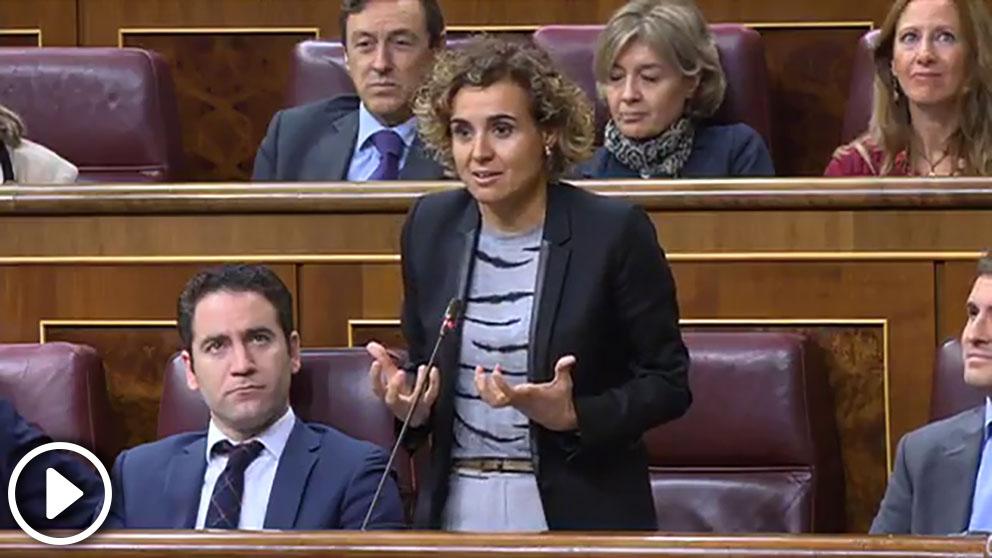 La portavoz del PP en el Congreso, Dolors Montserrat, en una sesión del Congreso