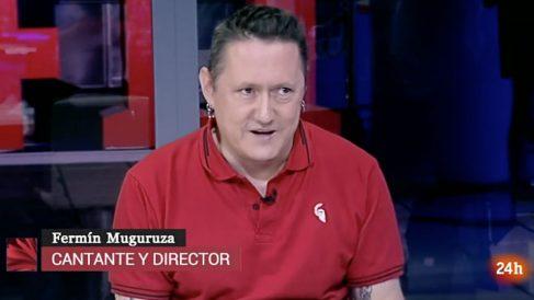 El cantante proetarra Fermin Muguruza entrevistado en el canal 24 horas de RTVE