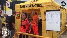 Equipos de emergencia trabajando en Sant Llorenç