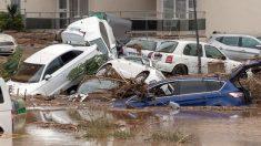 Vista de una calle de la localidad de Sant Llorenç des Cardassar (Mallorca) tras las inundaciones. (Foto: EFE)