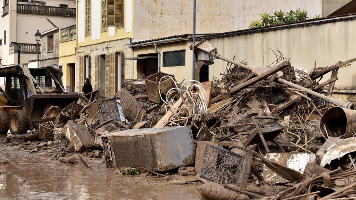 Inundación en Mallorca. Foto: Alberto Vera