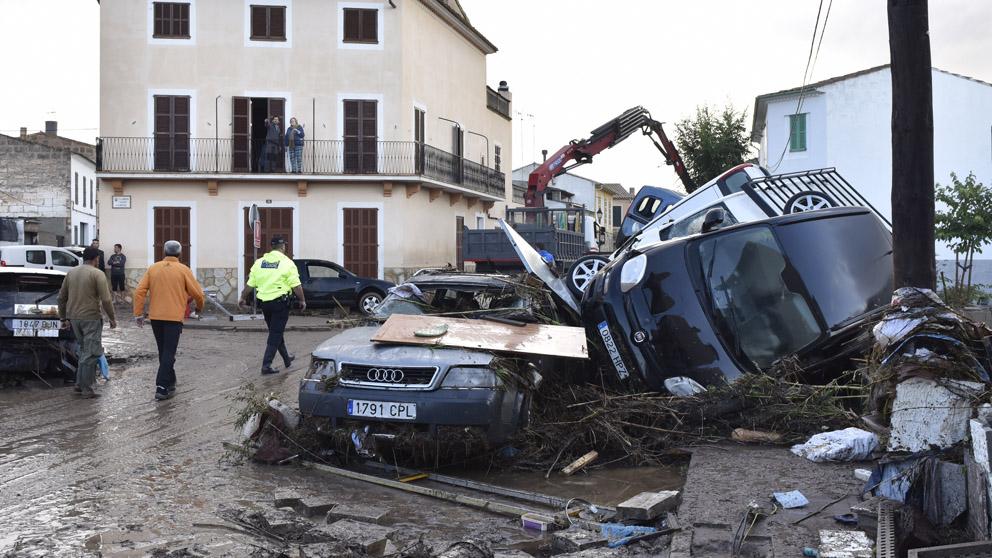Efectos de las inundaciones en Mallorca (Foto: EFE)