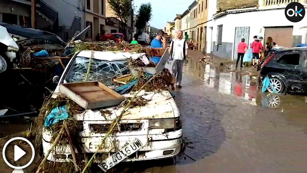 La localidad mallorquina de Sant Llorenç tras las inundaciones y la tragedia del 9 de octubre. Foto: Santiago Vera.