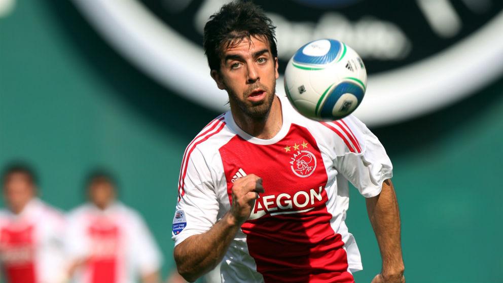 Oleguer Presas durante un partido con el Ajax. (Getty)