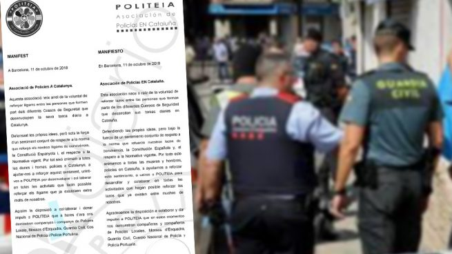 Mossos se unen a policías y guardias civiles en una asociación para defender la Constitución