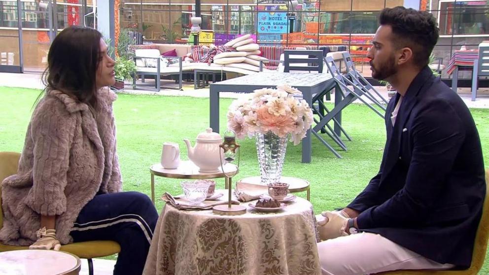 Suso y Miriam en la hora del té de 'GH VIP 2018'