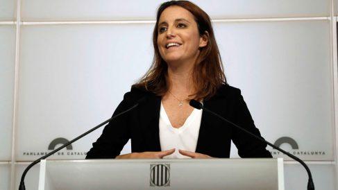Andrea Levy, diputada del PP en el Parlament de Cataluña. Foto: EFE