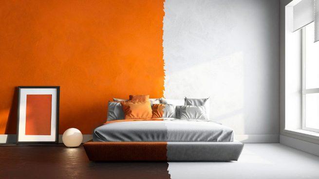 pintar una habitación de dos colores