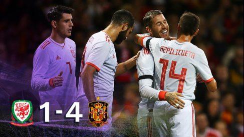 España goleó a Gales (1-4) y sigue dejando buenas sensaciones.