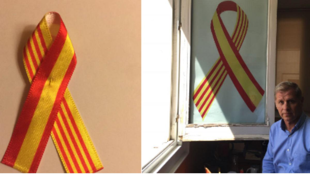 El PP repartirá lazos con las banderas de España y Cataluña (RRSS).